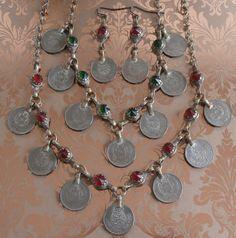 Vintage Tribal Nomad Necklaces and Earrings ~ Elegant Gypset Boho Fashion Style ~ by StarliteVintageGems ~ SOLD