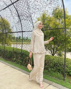 Dress Muslim Modern, Kebaya Modern Dress, Kebaya Dress, Muslim Dress, Dress Brukat, Batik Dress, Dress Outfits, Muslim Fashion, Hijab Fashion