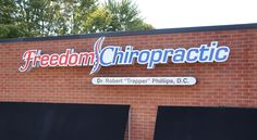 Channel Letter sign for Freedom Chiropractic