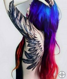 Best Back Tattoos for Men and Women Cool Back Tattoo Designs and Ideas Updated Daily- Angel Wings Tattoo Sexy Tattoos, Trendy Tattoos, Body Art Tattoos, Sleeve Tattoos, Tattoos For Women, Black Crow Tattoos, Tattoos Skull, Feminine Tattoos, Dragon Tattoos