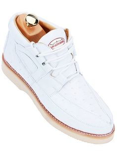This is a gorgeous pair of Los Altos Ostrich casual shoes for men. Pure snow white, you can wear them with slacks, jeans or shorts, any color that you wish. Create your own style at Shop Big Time today!  http://shopbigtime.com/shop/all/mens-casual-shoes/  #CasualShoes #MensShoes #MensCasualShoes #MensExoticSkinShoes #MensOstrichShoes #WhiteMensShoes #ShopBigTime #MensFashion #MensStyle