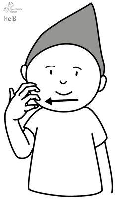 heiß Babyzeichen Babyzeichensprache Gebärdensprache Babygebärden Kindergebärden GuK