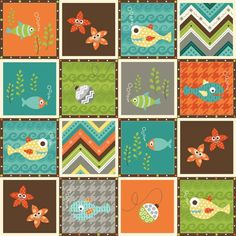 Here Fishy Fishy by Heather Mulder Peterson for Henry Glass Fabrics.  Coming soon!
