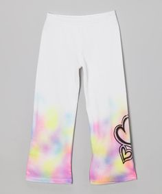 Take a look at this White Hearts Pants - Girls on zulily today!