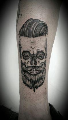 Caveira perna skull