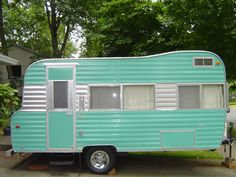 Vintage Canned Ham Travel Trailer Camper