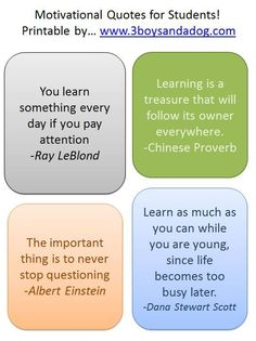 Back to School: Motivational Quotes for Students | Pinterest ...