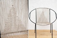 How to Restring a Chair, Knit Wit-style