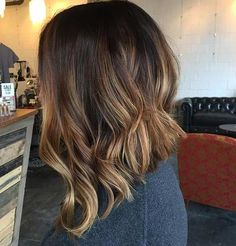 Long Inverted Ombre Bob Hairstyle