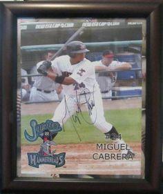 Autographed minor league triple crown winner Miguel Cabrera 8x10 photo, with COA | crazycollectors.com