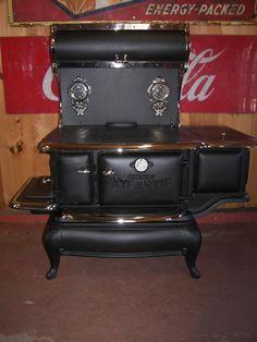 Queen Atlantic Cook Stove.  Made in Portland, Maine!