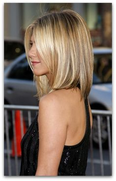 Shoulder length hair.....would look great on anyone with her hairline