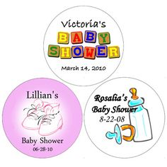 Personalized Baby Shower Favor Tags and Labels BABYSHOWERTAGS-FT.  *** 20 count for $4.99.  Wrapwithus.com.