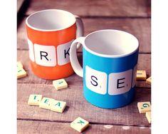 Personalised 'Scrabble Mug' Mug by apieceof on Etsy
