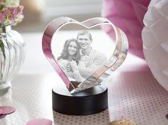 Glasherz. Dein Foto in Glas gelasert zum Valentinstag, Geburtstag, Jahrestag. Romantisch und edel.