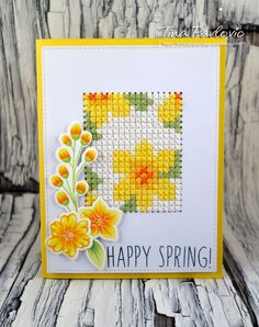 Embroidery Stitches Card with embroidery, sew sewing embroidery cross stitch card background pattern flowers, spring flower card Cross Stitch Cards, Cross Stitch Flowers, Cross Stitch Kits, Cross Stitch Designs, Cross Stitching, Cross Stitch Embroidery, Cross Stitch Patterns, Embroidery Cards, Embroidery Stitches Tutorial