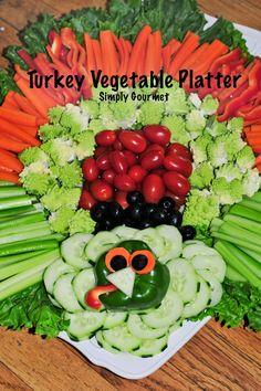 Simply Gourmet: Turkey Inspired Vegetable Platter