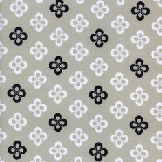 Cotton and Steel House Designer - Black and White 2 - Clover in Natural