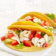 While fresh fish and seafood is enjoyed year round, this lighter fare is  ideal during the summer months. And since it's still warm out, dine outside  in the fresh outdoors!  Here are some great dishes to try this week:  Fish tacos are a popular dish on food trucks these days, but save yourse