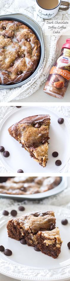 This dark chocolate toffee coffee cake is the best excuse to have chocolate for breakfast. Rich and chocolatey, this coffee cake recipe is perfect any time of the day!   www.alattefood.com Best Dessert Recipes, Fun Desserts, Sweet Recipes, Delicious Desserts, Brunch Recipes, Easy Recipes, Cupcakes, Cupcake Cakes, Muffins
