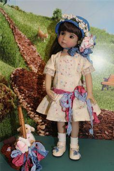 American Girl Doll\ Wearing an Easter Bonnet