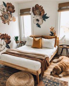 Home Interior Boho Bohemian Bedroom Decor Ideas Bohemian Bedroom Design, Interior Design Living Room, Bedroom Designs, Bedroom Ideas, Bohemian Decor, Floral Bedroom, Bohemian Bedding, Bohemian Interior, Bohemian Beach