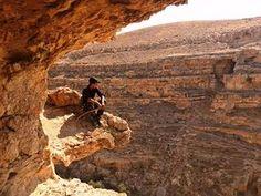 Bedouin boy on a rock near Mar Saba