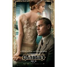 the great gatsby leonardo dicaprio carey mulligan poster ❤ liked on Polyvore featuring home, home decor, wall art, art deco posters, art deco style posters, art deco home decor and art deco home accessories