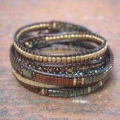 Bracelet Wrap, Beaded Wrap Bracelets, Bracelet Cuir, Bohemian Bracelets, Bohemian Jewelry, Beaded Jewelry, Jewelry Bracelets, Jewelery, Handmade Jewelry