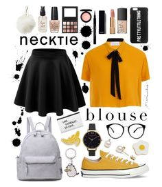 """""""Yellow"""" by natkurii on Polyvore featuring Elvi, Converse, Pusheen, Olivia Burton, Charlotte Russe, Georgia Perry, NARS Cosmetics, Chanel, Givenchy and Olivine"""