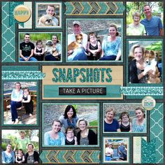 Digital Scrapbook Page, Snapshots, left
