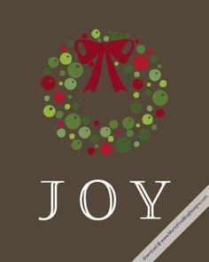 Free Christmas Holiday JOY printable   www.MoritzFineBlogDesigns.com
