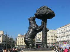 Puetra del Sol - Madrid, Spain. (The bear and the tree is the symbol of Madrid, Spain's capital)