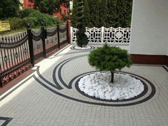 Rain and snow are going to play a huge part in your yard landscaping decisions. For example you will have to plan for your yard landscaping with care. These yard lan Modern Landscape Design, Landscape Plans, Modern Landscaping, Front Yard Landscaping, Backyard Landscaping, Landscape Architecture, Landscaping Ideas, Backyard Ideas, Design Jardin