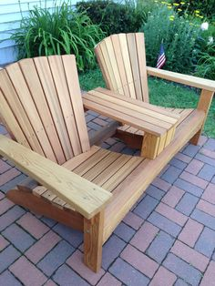 Double Adirondack chair western red cedar