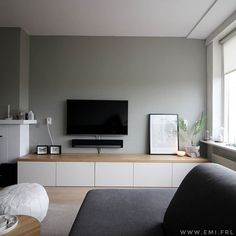 Living Room Tv Unit, Living Room Grey, Living Area, Small Media Rooms, Interior Styling, Interior Design, Nordic Living, Wall Storage, First Home