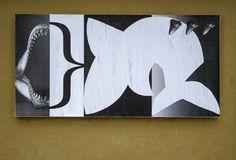 "Brent Dahl, Ficciones Typografika 1585-1587 (72""x36""). Installed on January 21, 2018. More: http://ficciones-typografika.tumblr.com/"