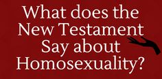 Infographic: What Does the New Testament Say about Homosexuality? - Westar Institute