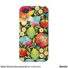Shop Ethnic Flowers Decorative Art iPhone Case created by madestudio. Iphone 3 Cases, Iphone 4, Ukrainian Art, Go Shopping, Painting On Wood, Tech Accessories, Flower Art, Your Design, Folk Art