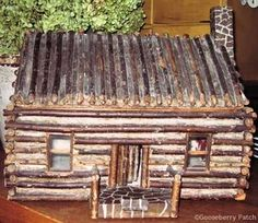I collect log cabins.