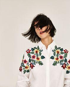 ビッグシルエットフローラルシャツ-シャツ -シャツ ブラウス-レディース | ZARA 日本