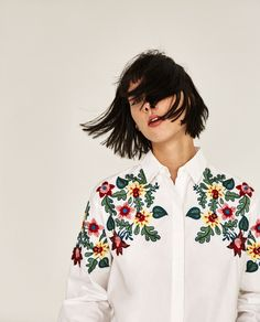Image 3 of OVERSIZED FLORAL SHIRT from Zara