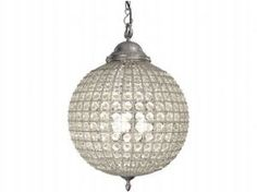 Cognac Pewter Crystal Ball Chandelier - 3 Sizes