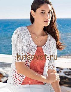 Жакет с цветочными мотивами крючком http://hitsovet.ru/zhaket-s-cvetochnymi-motivami-kryuchkom/