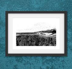 Digitaldruck A4: Weststrand Ahrenshoop von pixelgraphix auf DaWanda.com