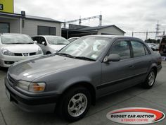 Toyota Corolla ex rental  For Sale  $3,500.00    Year:   1996  Manufacturer:   Toyota  Model:   Corolla ex rental   Engine:   1498  Fuel Type:   Petrol  Transmission:   Automatic  Mileage:   219100 km  Exterior Colour:   Grey  Doors:   4  Body Style:   Sedan  Stock #:   8662    Features:  Airbag, Central Locking, Power Windows, Power Steering