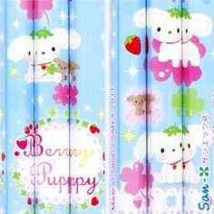 Berry Puppy dog pencil set 3pcs with cloverleaf