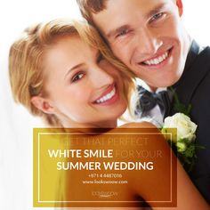 Are you in the midst of planning and putting the final touches to your summer wedding? We offer a Teeth Whitening special package in store this summer for brides, grooms and bridesmaids to take advantage of! White Smile, Grooms, Teeth Whitening, Summer Wedding, Clinic, Dental, Tooth, Bridesmaids, How To Plan