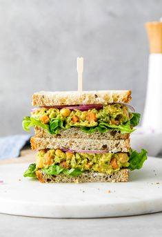 Vegan Sandwich Recipes, Healthy Sandwiches, Vegetarian Recipes, Chickpea Sandwich, Salad Sandwich, Plant Based Diet, Plant Based Recipes, Whole Food Recipes, Great Recipes