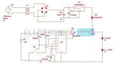 Here is the simple automatic changeover circuit wherein a DC load like a series of LEDs are driven either by a battery or an AC-DC power supply.